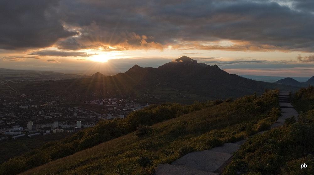 Вид с вершина горы Машук